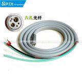 Tubo flessibile dentale del silicone del tubo della tubazione dei 6 fori per fibra ad alta velocità Handpiece ottico