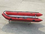 Aqualand 16pieds 4,8M fond mou de sauvetage gonflable en caoutchouc Bateau à moteur (AQL480)