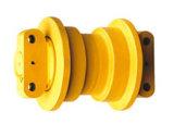 A estrutura da máquina escavadora parte o rolo da trilha/rolo inferior para as peças do Jcb