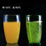 Vetro freddo del succo di frutta della tazza della spremuta della tazza del succo di arancia di vetro di Borosilicate