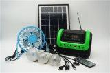 2018 Venda quente do sistema de energia solar de 5 W com 3 PCS Lâmpada Solar Casa Solar Rádio do sistema de ficheiros MP3