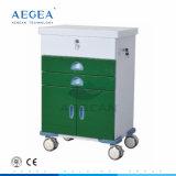 1つのドアの病院の金属フレームの患者のトロリーとのAG-GS004