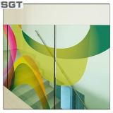 il galleggiante libero di 6mm ha tinto la parete colorata Splashback di vetro di vetro