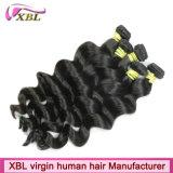 Отсутствие волос перуанских волос девственницы химического процесса естественных черных