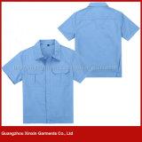 Uniforme corto del desgaste del trabajo del algodón de la funda de la fabricación para los hombres (W127)