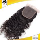 Partie moyenne de première fermeture 3.5*4 d'accessoire brésilien de cheveu
