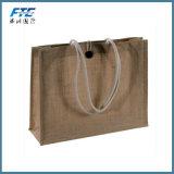 Bolso orgánico laminado reutilizable impermeable del yute del bolso de compras del yute del bolso de compras