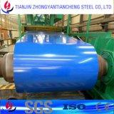 A cor Prepainted de PPGI revestiu a bobina de aço no estoque de aço com a superfície da cor