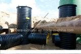 Riga tubo ondulato dell'espulsione del tubo di Krah dell'HDPE di spirale dell'HDPE che fa macchina