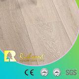 Suelo laminado laminado de madera de madera V-Grooved del tablón 12.3m m HDF del vinilo