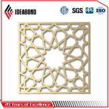 Grade composta de alumínio decorativa do CNC do painel dos pés de Ideabond 4*8