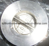 Válvulas de verificação da bolacha da placa do aço de molde únicas