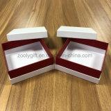 Revestimiento de tacto suave de papel cuadrado pequeño Caja de regalo