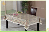 Toile de table en or estampée et or en PVC avec support en flanelle (TJG007)