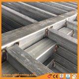 Alluminio personalizzato tramite la barriera di sicurezza saldata della parte superiore del germoglio