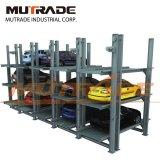 Levage souterrain de stationnement de quatre postes d'entraînement de moteur