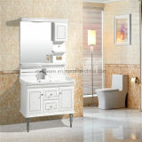 Waschbecken-Schrank-Auslegung-dünner Badezimmer-Schrank PVC-Badezimmer-Schrank