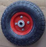 """10 """" 외바퀴 손수레와 손 트롤리를 위한 3.50-4 고무 압축 공기를 넣은 바퀴"""