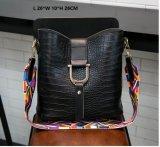 Saco de ombro da senhora Forma Cubeta Forma com cor Srtap (WDL0218)