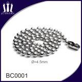 Cadena ecológica de la bola del metal del hierro de 4.5mm