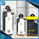Caisse antichoc neuve de téléphone en verre Tempered de PC de TPU pour l'iPhone
