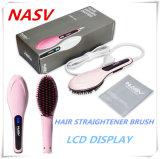 Item ultimamente 2016 Professional OEM de boas-vindas 75W Nasv Cerâmica escova alisadora de cabelo