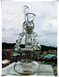 Recycler Hb-K49 Perc doppelte schraubenartige Strichleiter-Form-rauchendes Wasser-Glasrohr