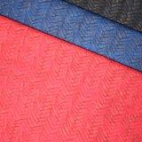 Tessuto del cuoio artificiale del poliuretano del Faux del tessuto di cestino per il pattino del sacchetto