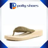 Oro bianco di formato 6 dei sandali di caduta di vibrazione delle donne sveglie nuovo