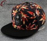 Chapeau tropical de Snapback avec le logo tissé d'étiquette