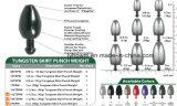 Colore 3/4oz&1oz USD1.74/PC della pianura del peso del punzone del pannello esterno del tungsteno