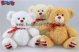 """7.5"""" White adorável ursinho de pelúcia com coração vermelho de Fita de impressão Bos1106"""