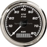 Waterproof quadrato 85mm Tachometer RPM Gauge 8000rpm per All Engines