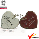 Antiquités Vintage Rustic Christmas Hanging Metal Heart Wall Deco