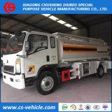 Sinotruck HOWO 4X2 5cbm 5m3の石油タンカーのトラック5000Lの燃料のタンク車