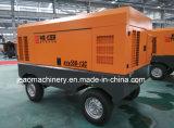 Utilisation diesel portative de compresseur d'air de Hg550-13c pour le mien du projet de trou de souffle en 2017