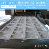 2t dirigono la macchina di alluminio di raffreddamento del creatore del ghiaccio in pani del piatto