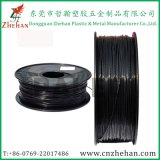 Верхняя нить волокна черноты углерода ранга 1.75mm для принтера 3D
