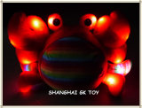 Indicatore luminoso scintillante del giocattolo LED della peluche dell'animale di mare della peluche del ricordo