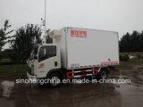 Camion chaud de cadre de Sinotruk HOWO 129HP 3t véhicule léger de vente