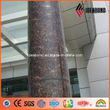 Ideabondの魅力的な1220*2440mm石造りの大理石の終わりのアルミニウム合成のパネル (ACP)