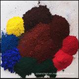 Peinture de couleur rouge / jaune / noir Pigments Oxyde de fer en usine