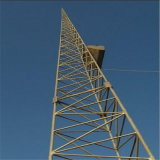 На поддержку трех ногу стальной трубопровод решетки микроволновой связи в корпусе Tower