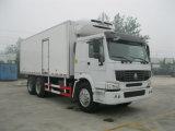 De Vrachtwagen van de Diepvriezer van Sinotruck 6*4 met Gekoelde Bestelwagen voor Verkoop