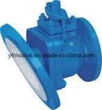 Válvula de bola de descarga con PFA bordeado por corrosión