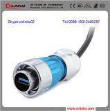 試供品USBのコネクターReceptacle/USBはパネルMount/USB 3.0ジャック型配線盤のコネクターを防水する