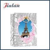 Изготовленный на заказ напечатанный бумагой мешок подарка несущей покупкы конструкции башни Effiel