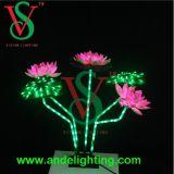 LED 끈 꽃 크리스마스 불빛, LED 로터스 빛 꽃 빛