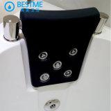 De hoek-geplaatste Sanitaire Badkuip van de Massage van Waren met Glas voor Badkamers (BT-A1008)