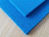Folha vermelha da borracha de esponja do silicone, folha azul da borracha de esponja do silicone, cobertura da borracha de esponja do silicone